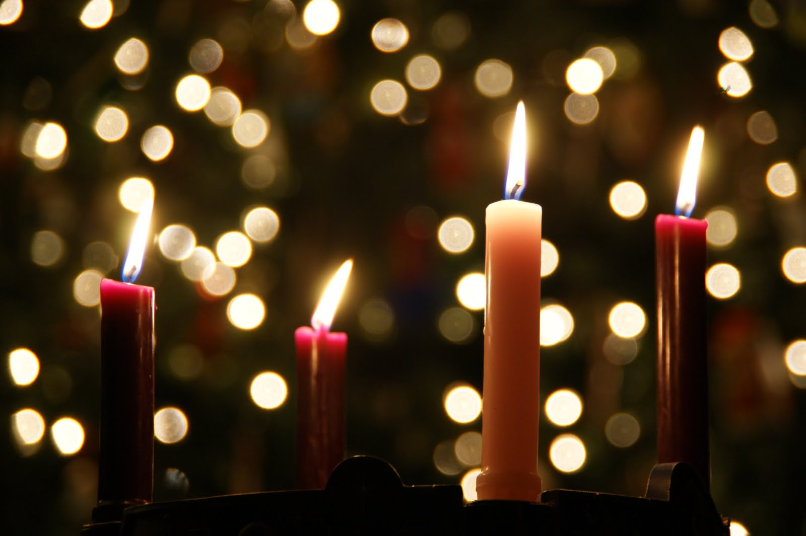 Advent Candles 3 purple amp 1 pink 78 x 9  Cathedral