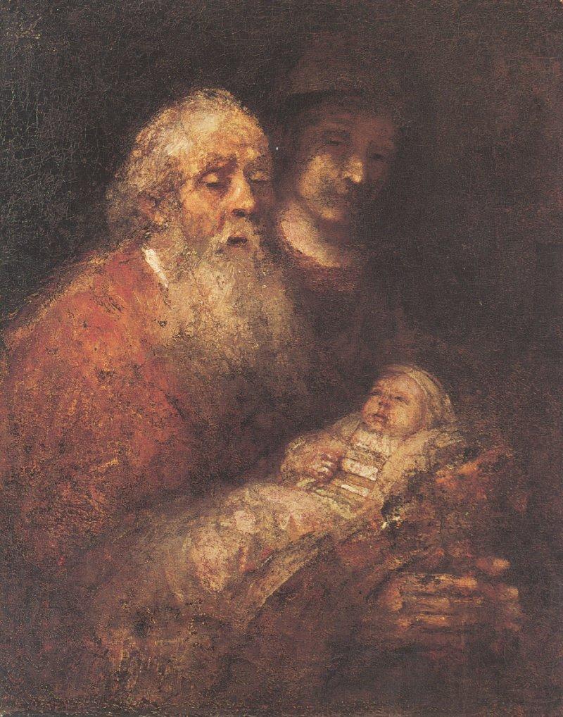 Rembrandt_Simeon_houdt_Jesus_vast